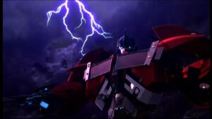 Optimus with lightning