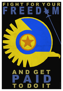 New conglomerate propaganda poster paid by pingonaut-d8h0wld