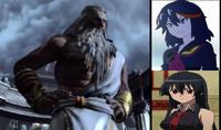 Akame and Ryuko vs Zeus