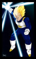Vegeta ready attack