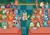 Pokeschool Starter Pokemons and Pikachu