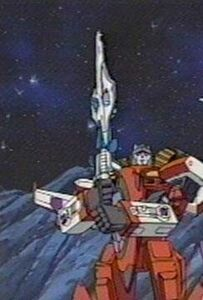 Starscream hold star saber