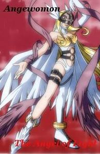 Angewomon angel of light posing