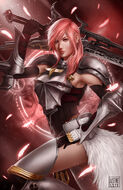Lightning of final fantasy fan art by justinetutubi-d8pznyk