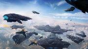 Skycity digital painting by martanael-d2xz4on