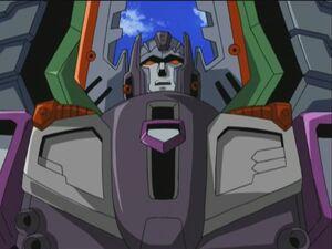 Megatron half view
