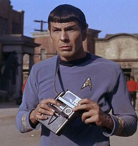 Spock with scanner