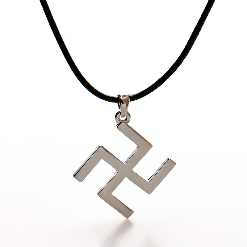 Image 2016 Silver Buddhism Peace Symbol Font B Swastika B Font