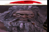 Zeus wears Santa's Hat