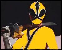 Kamen Rider pose with sword