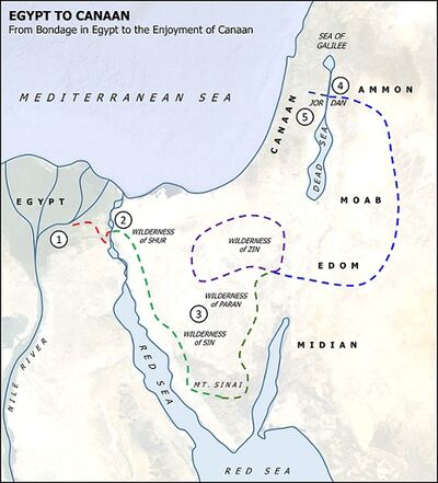 Egypt to Canaan Map