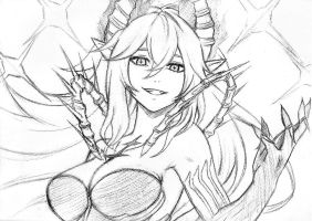 Luciela r sourcream diabla altar of evil sketch by reyos cheney-dadxbgo
