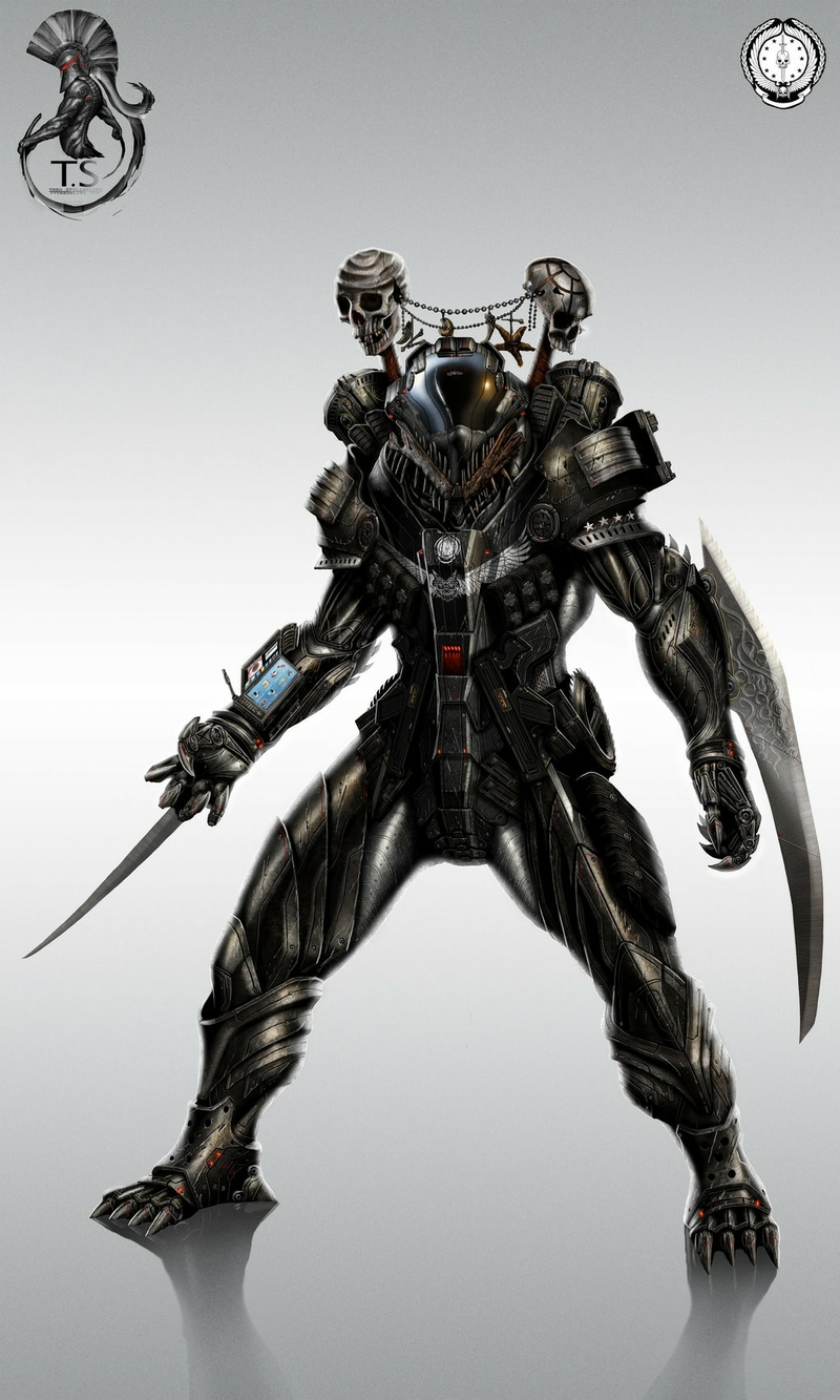 Image - DroidSkulls futuristic weapons armor digital art ...
