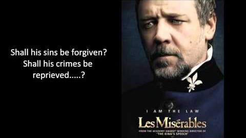 Les Miserables Javert's Suicide Russell Crowe Lyrics