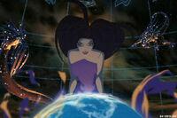 Eris with globe