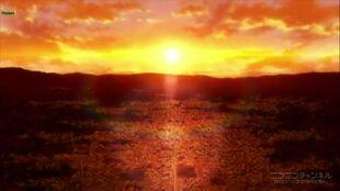 Tenguu city sunset