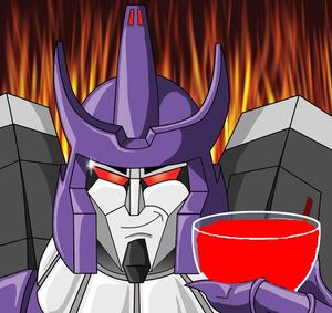 Galvatron with blood