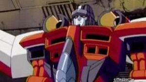 Starscream sitting down