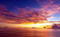Decline evening clouds air sky colors ocean surface sea 46013 3840x2400