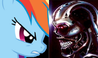 Rainbow Dash VS Mechuckles Terminator