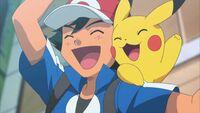 Ash and pikachu cheer