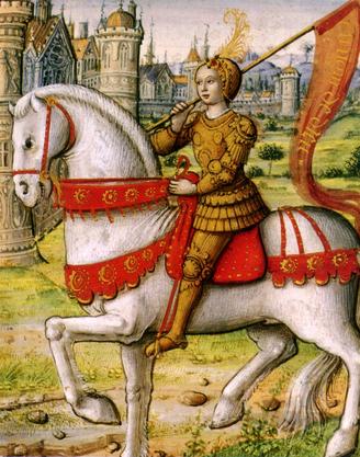 Joan of Arc on horseback