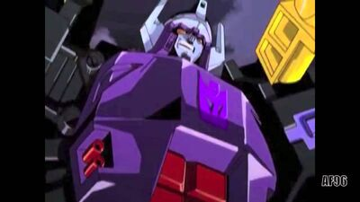Galvatron hand drawn evil smile