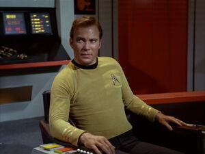 Captain kirk sitting