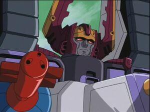 Galvatron with requiem blaster