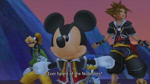 Mickey goofy and sora ready