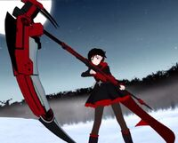 Ruby Rose with Crescent Rose