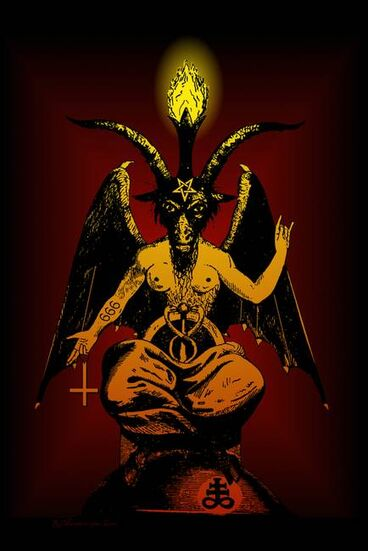 Satanic-Goat-Baphomet-after-Levi art