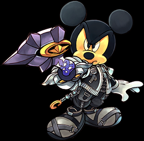 Mickey with star seeker keyblade