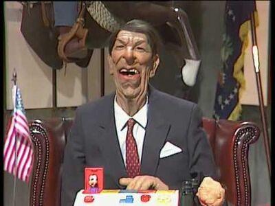 Ronald Regan Spitting Image