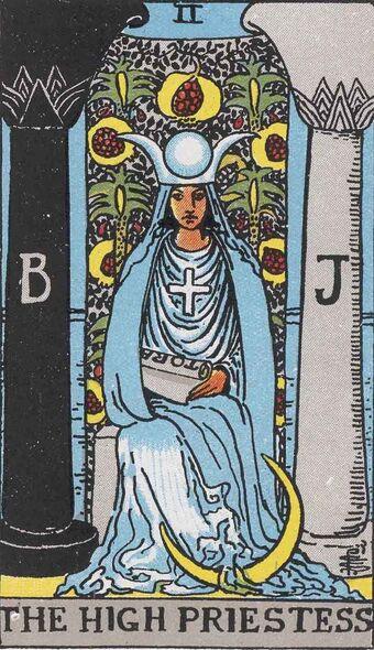 RWS Tarot 02 High Priestess