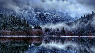 Winter-wallpaper-background-reflection-magnificent-lake-nature-desktop
