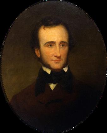 Edgar Allan Poe by Samuel S Osgood, 1845