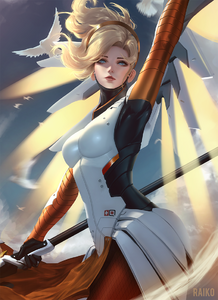 Mercy overwatch drawn by raikoart 0c91a86e49d0b25a19b670ee07357ce5