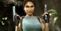 Lara with pistols