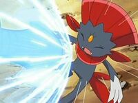 Weavile attacked