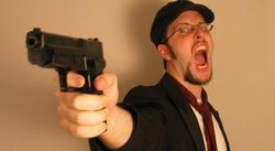 Nostalgia critic with gun