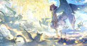 Anime-girl-angel-wings-heaven-stairs-light-dress-anime-1894