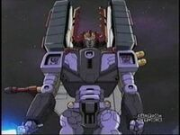 Galvatron towering