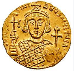 Solidus-Justinian II-reverse