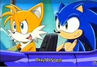 Tails and sonic ready in plane