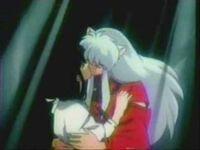 Inuyasha and kikyo kissing