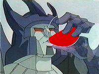 Galvatron drinking blood