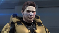 Agent York without helmet