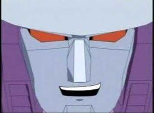 Galvatron evil grin