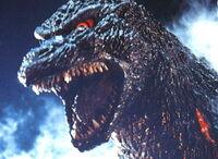 Godzilla close up